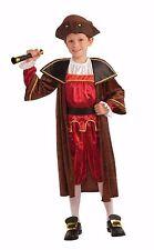Christopher Columbus Child Costume Rd & Br 5 Pc Knickers Shirt Coat Belt & Hat L