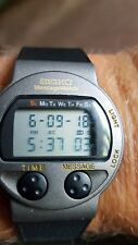 SEIKO MESSAGE VINTAGE LCD  WATCH MA52 4A60 NOS