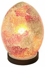Mosaic MINI Glass Egg Lamp -RED/ORANGE Bedroom/Table Light