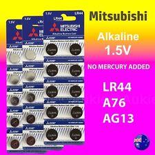 30 x LR44 Mitsubishi New 0%Hg Battery Genuine 1.5V A76/AG13 Alkaline Batteries