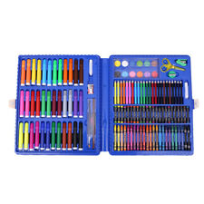 Blue 151pce Kids Art and Craft Mixed Media Kit in Case Crayons, Markers, Waterco