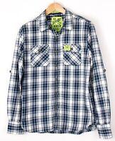 Superdry Herren Der Lumberjack Twill Regular Fit Freizeithemd Größe M BAZ775