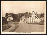 1910s Antique Vintage Shottery Village Photo Gravure Print