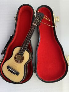 KURT S. ADLER Guitar w/ Case Musical Instrument Christmas Ornament