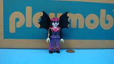 Playmobil Halloween figure adult female klicky w/ purple dress & black wings 118