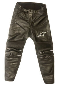 Alpinestars Stella Jagg Womens 48 Black Leather Pants Motorcycle Track Race