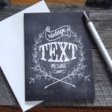 Chalkboard Style Greeting Card, Vintage Text Message note card - NICE
