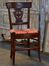 Set of 6 'Directoire' chairs with cane seats - antique dining chairs