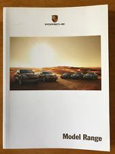 FOLLETO de la gama de modelos de Porsche libro 2010