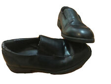 George Youth Boy Sz 4 Black Dress Shoes Loafers Formal Occasion Slip