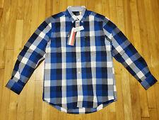 Tommy Hilfiger blue white plaid shirt Size S NWT