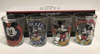 Disney Mickey Mouse Collector Shot glasses set Of 4 Licensed Glassware Set NIB
