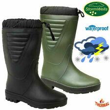 Stormwells Fleece Fur Lined Cold Work Winter Thermal Wellington Boots Wellies
