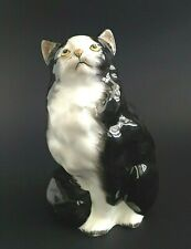"Vintage Royal Doulton Cat HN 999 Black & White Figurine 5"" Mint"