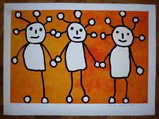 Paul Kostabi estampe digital signée art brut pop art