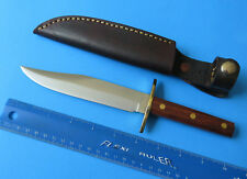 "10"" Large Bowie Hunting Knife NEW VINTAGE Italy 6"" Clip Point Woodsman's Friend"