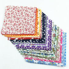 30x 10x10cm Fabric Bundle Stash Cotton Patchwork Sewing Quilting Tissue Cloth