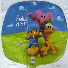POCOYO Party Supplies BALLOONS Pocoyó Birthday Mylar Decoration Elly Fiesta GREE