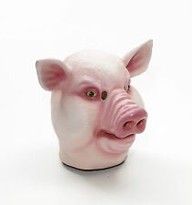 Deluxe Pig Mask Jumbo Head Latex Rubber Animal Costume Prop Funny Boar Snout New
