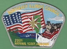 NORTHEAST ILLINOIS COUNCIL 129 2001 NATIONAL JAMBOREE BOY SCOUT CSP PATCH S40