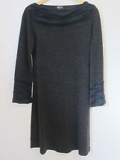 Manque Design Charcoal Grey Wool Blend Fine Knit L/S Dress - Size M - EUc