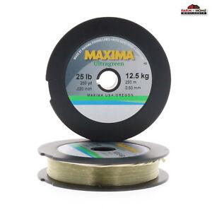 (2) Maxima Ultragreen One Shot Monofilament Fishing Line 25lbs 250yds ~ NEW