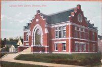 Pipestone, MN 1910 Postcard: Carnegie Public Library - Minnesota Minn