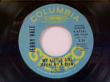 "JERRY VALE ""MY LITTLE GIRL (ANGEL ALL A-GLOW) / MONO"" 45 PROMO"
