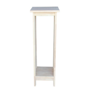 Mission Unfinished Indoor Plant Stand Garden Patio 2 Tier Wood Pedestal Stand