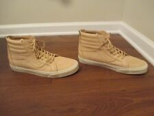 Used Worn Size 13 Vans OTW Sk8 High Skateboard Shoes Zipper, Beige, White