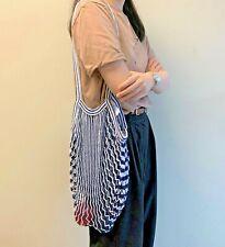 Stylish Reusable Grocery Bag |100% Cotton Net Mesh Shopping Tote