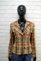 Giacca MAX & CO Donna Taglia 42 Cappotto Blazer Jacket Woman Lana Quadri Vintage