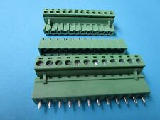 50pcs 5.08mm Close Straight 12pin Screw Terminal Block Connector Pluggable Green