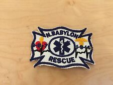 north babylon rescue  , patch, new old stock,  1970's