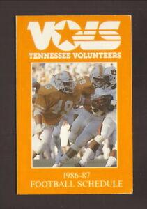 Tennessee Volunteers--1986 Football Pocket Schedule--American General
