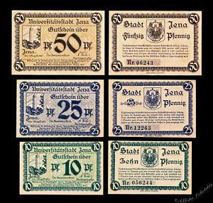 Jena Notgeld / 1919 / Complete Set, Three Notes - UNC