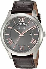 Guess Men's Metropolitan Brown Leather Strap Watch 44mm Watch U0792G7  NEW!