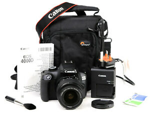 Canon EOS 4000D DSLR Camera + Canon EF-S 18-55mm III Lens Kit - EXC
