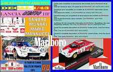ANEXO DECAL 1/43 LANCIA STRATOS HF S. MUNARI TOUR DE CORSE 1974 MARLBORO (04)