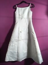 "Girls Angels New York Girls Dress Size 14 Length 46"" - White Gown"