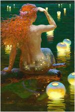 Deluxe Jigsaw Puzzle 1000 Piece Mermaid Sea-maid's Love Dream Lantern Sea YC1147