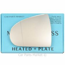 Left side Wide Angle Wing mirror glass for Mitsubishi Colt 04-12 Heated + plate