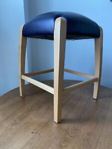 """LOEWENSTEIN CONTEMPORARY STOOL - LEATHER & LIGHT OAK - 24""""H - GREAT CONDITION"""