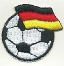 """1 1/2"""" Soccer Fußball Germany Deutschland Flag Flagge Embroidery Patch"""