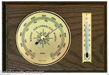 Fischer Wetterwarte innen,Barometer,Thermometer,Nussbaumfarben,5028-12