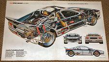 Lancia Rally Abarth Martini - Schnittzeichnung Röntgenbild 1982 - cutaway view