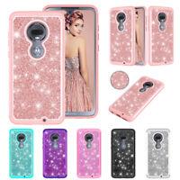 For Motorola Moto G7 Plus G8 G6 E5 Play E6 E4 Z3 Z4 Case Bling Shockproof Cover