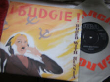 """BUDGIE Bored with Russia 7"""" PS poster slv RCA 1982 exc"""