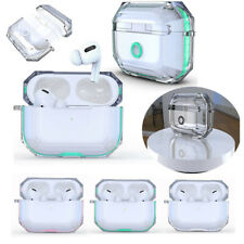 For Apple AirPods Pro Case Hybrid Armor Clear Cover Charging Protective+Keychain