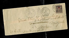 1902 Shanghai French Post Office in China Cover to USA via Japan